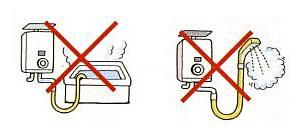 小型湯沸器の長時間使用は危険です。